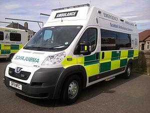 Scottish Ambulance Service - A New Peugeot Boxer ambulance of the Scottish Ambulance Service