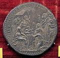 Scuola romana, medaglia di pio V, adorazione dei magi, 1571, argento.JPG