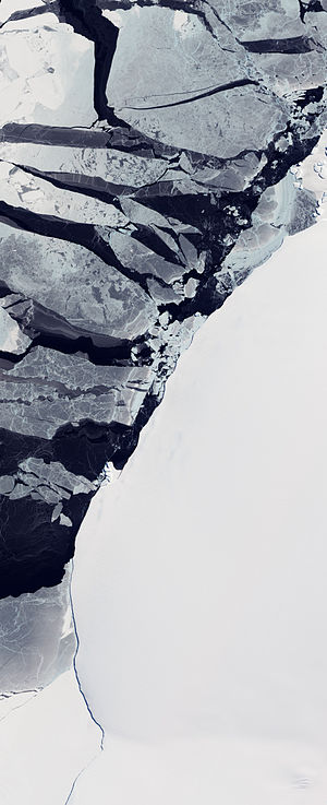 East Antarctica - Image of a variety of ice types off the coast of East Antarctica.
