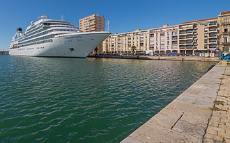 Seabourn Cruise Line - MV Seabourn Quest in Sète, France.