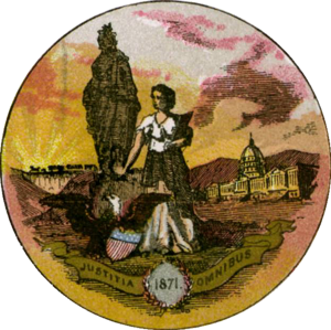 Seal of the District of Columbia - Seal of the District of Columbia in 1876.