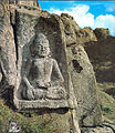 Seated Buddha Carved on the Rock at Wolchulsan mountain in Yeongam, Korea.jpg