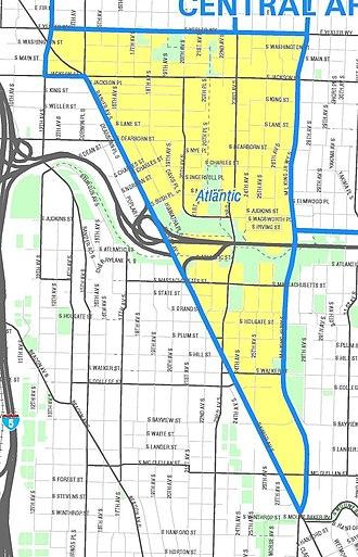 Atlantic, Seattle - Map of the Atlantic neighborhood