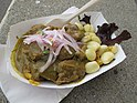 Seco de Cordero (Lamb Leg Stew) from Lima Peruvian at Off the Grid- Fort Mason Center (7423438016).jpg