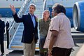 Secretary Kerry Speaks With Ambassador Godec and Assistant Secretary Thomas-Greenfield Upon Arrival in Kenya (17358020715).jpg