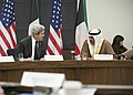 Secretary Kerry Speaks With Kuwait First Deputy Prime Minister and Foreign Minister Sabah al-Khalid al-Sabah at U.S.-Kuwait Strategic Dialogue (30386243221).jpg