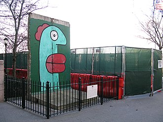 Thierry Noir - Segment of Berlin Wall in New York City