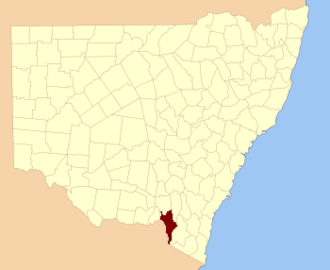 Selwyn County, New South Wales - Location in New South Wales