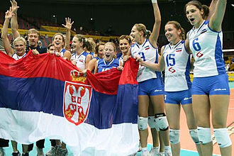 Serbia women's national volleyball team - 2006 World Championship, 3rd place.