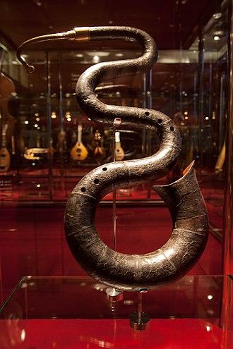 Serpent (instrument) - Serpent at Museu de la Música de Barcelona