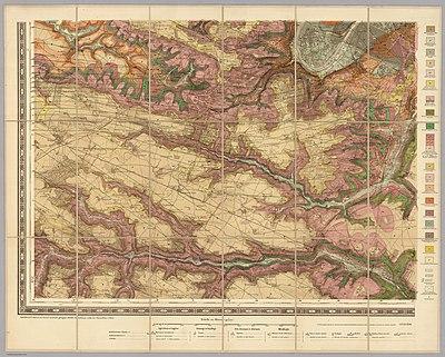 Service géologique des mines, Sud-Ouest - Paris et ses environs, 1890 - David Rumsey.jpg