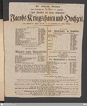 Derossi sen. als Schauspieler in Düsseldorf 1816 (Quelle: Wikimedia)