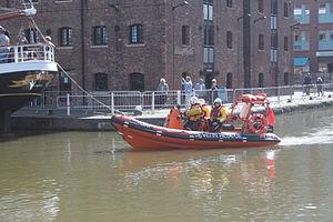 Severn Area Rescue Association - Severn Rescue boat in Gloucester Docks