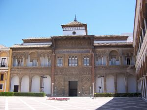 Pedro of Castile's Palace in the Alcázar from the Patio de la Monteria