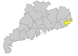 Shantou dialect - Image: Shantou map 2005