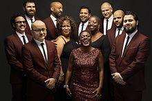 Sharon Jones and the Dap Kings pictured in 2015