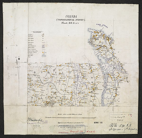 600px sheet north a 36 o   war office ledger.uganda topographical survey   sheets 3%2c4 and 5. %28woos 13 3 5%29