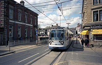 Sheffield Supertram in 1998 Sheffield tram at Hillsborough - geograph.org.uk - 811984.jpg