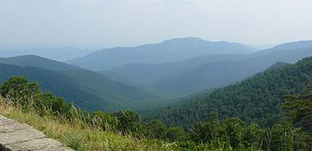 English: View of Shenandoah National Park from...