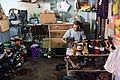 Shoemaker at work in the town of Saint Pierre, Mauritius. View2.jpg