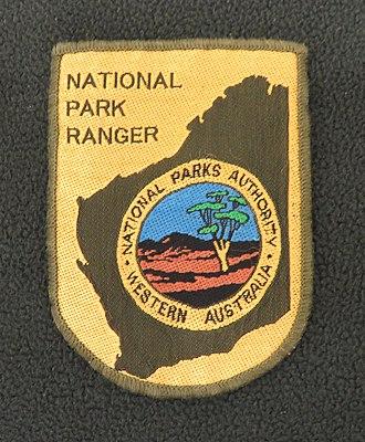 Department of Conservation and Land Management (Western Australia) - Image: Shoulder badge Western Australia National Park Authority Ranger Vest 1984