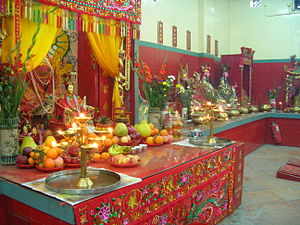 Shrine - Shrine to Tin Hau at Repulse Bay, Southern District, Hong Kong.