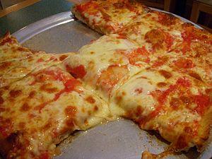 Sicilian pizza - Image: Sicilian pizza