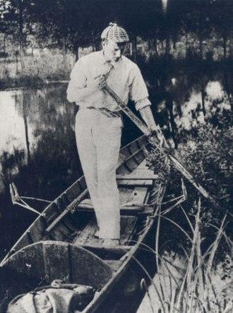 Sidney Paget - Sidney Paget wearing a deerstalker cap