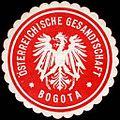 Siegelmarke Österreichische Gesandtschaft - Bogota W0223650.jpg