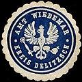 Siegelmarke Amt Wiedemar - Kreis Delitzsch W0260009.jpg