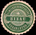 Siegelmarke Gemeindevorstehung Bizau - Vorarlberg W0261755.jpg