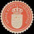 Siegelmarke Grossh. Regierungsbibliothek W0334440.jpg