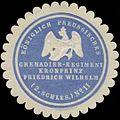 Siegelmarke K.Pr. Grenadier-Regiment Kronprinz Friedrich Wilhelm (2. Schlesisches Nr. 11) W0379109.jpg