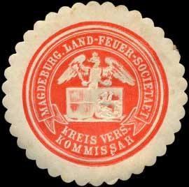 Siegelmarke Kreis Versicherungskommissar - Magdeburger Land - Feuer - Societaet W0251229