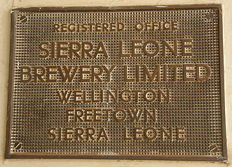 Sierra Leone Brewery Limited - Image: Sierra Leone Brewery Limited Plaque