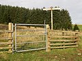 Signpost and gate, Cloich Forest. - geograph.org.uk - 269081.jpg