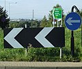 Signs on roundabout near Kenton Bankfoot - geograph.org.uk - 998022.jpg