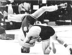 Simić vs Kormaník 1968 Olympics Georgian stamp crop.jpg