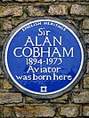 Sir ALAN COBHAM 1894-1973 Aviator was born here.jpg