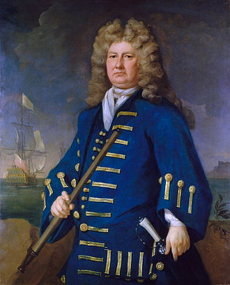 Admiral of the Fleet (Royal Navy) - Image: Sir Cloudesley Shovell, 1650 1707
