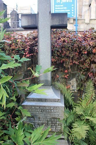 Clerk baronets - The grave of Sir James Clerk, 7th Baronet, St John's Edinburgh