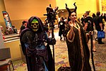 Skeletor & Maleficent cosplayers (14170449179).jpg