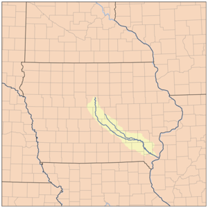 Skunk River - Image: Skunkrivermap