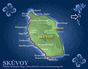 Skúvoy - Image: Skuvoy map