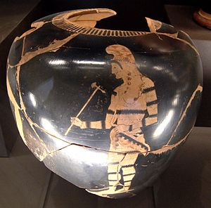 Euphronios - Paris, Louvre G 106: Neck amphora depicting a Scythian archer, circa 510-500 C.