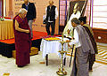 Smt. Ela Bhatt inaugurates HICC at Surajkund, New Delhi.jpg