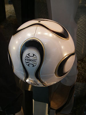 "A soccer ball that is ""thermally bonded"""