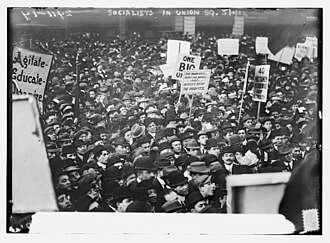 History of the socialist movement in the United States - Socialists in Union Square, New York City on May 1, 1912