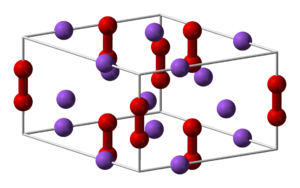 Alkali metal oxide - Crystal structure of sodium peroxide.