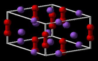 Sodium peroxide - Image: Sodium peroxide unit cell 3D balls